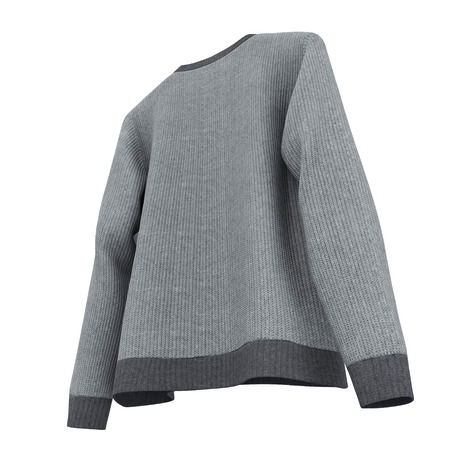 Blank Sweater on white background. 3D illustration, Clipping Path Stock Photo