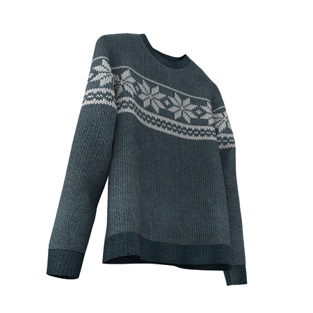 Sweater on white background. 3D illustration, Clipping Path Stock Photo