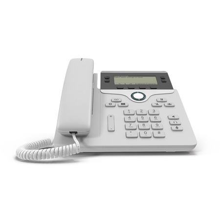 VOIP phone IP phone isolated on a white. 3D illustration, clipping path Stok Fotoğraf