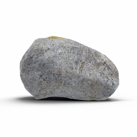 Stone isolated on white. 3D illustration, clipping path Imagens