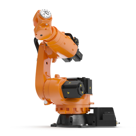 automate: Industrial Robotic Arm isolated. 3D illustration, clipping path