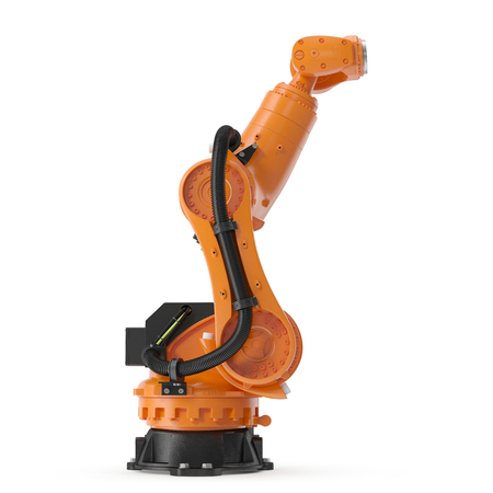 Robot arm for industry isolated. 3D Illustration, clipping path Stock Photo