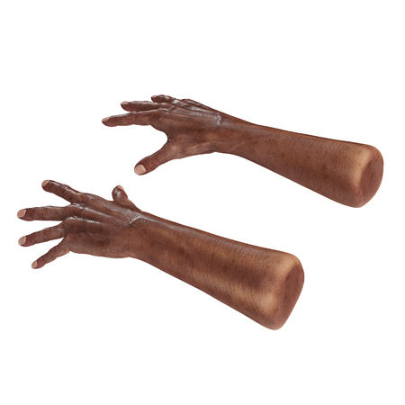 Old african hand on a white background. 3D illustration