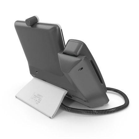 Office Phone - IP Phone technology for business on a white. 3D illustration Stock Photo