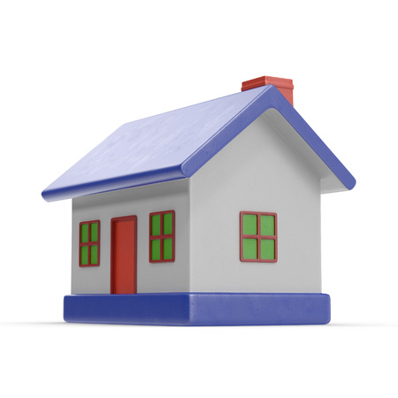small business: Toy House on white. 3D illustration Stock Photo