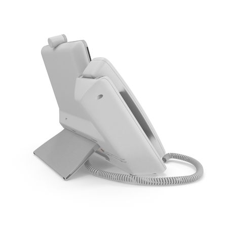 phone cord: Office Phone - VOIP Phone technology for business on a white background. 3D illustration Stock Photo