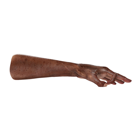 mature adult: Old african hand Ok Sign on a white. 3D illustration Stock Photo