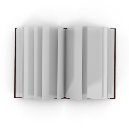 leather texture: Blank Journal on white background. Top view. 3D illustration Stock Photo