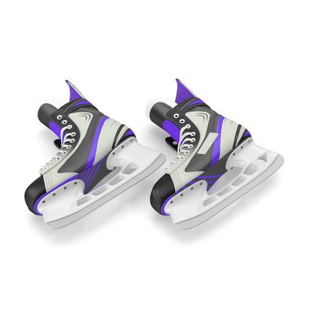 Mans hockey skates. Isolated on white background. 3D illustration