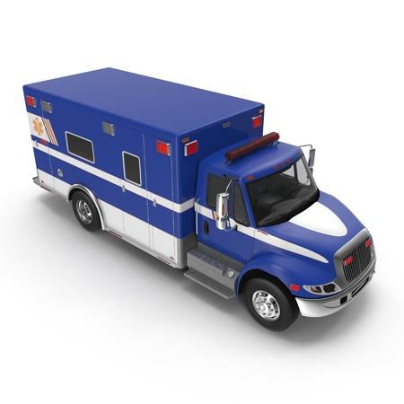 Paramedic Van isolated on white. 3D Illustration