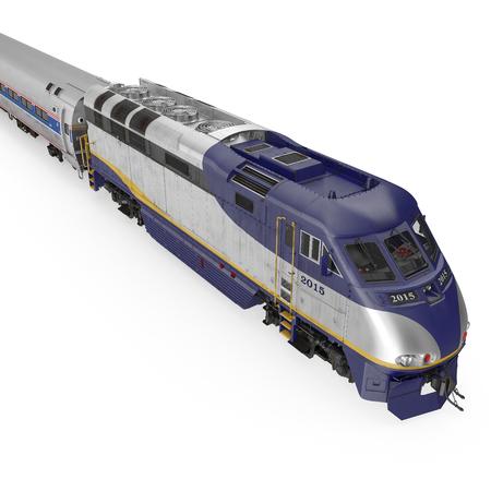 Modern high-speed train on white. 3D illustration