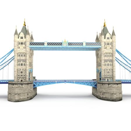 London landmark Towerbridge on white. 3D illustration