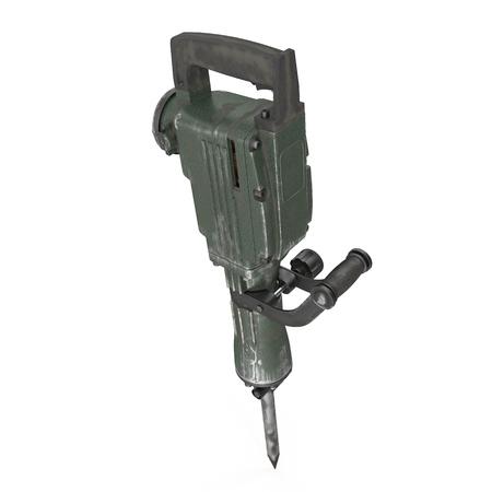 electric demolition jack hammer on white 3d