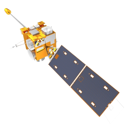 3d model of Weather Satellite on White Background