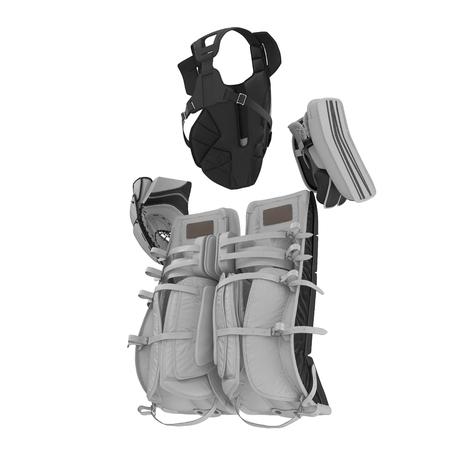 Hockey Goalie Protection Kit on white. 3D illustration