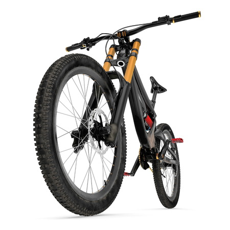 Mountain bike isolated on white. 3D illustration