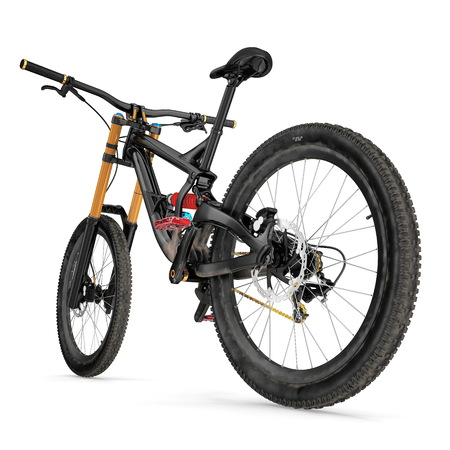 Mountain bicycle bike isolated on white. 3D illustration