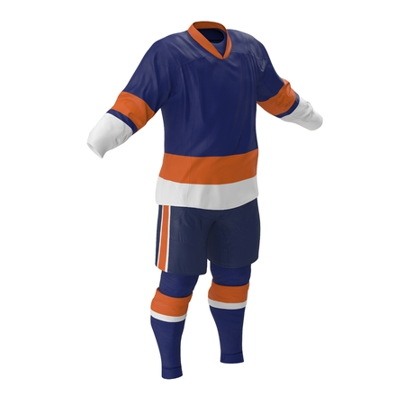Hockey Clothes on white. 3D illustration Stock Photo