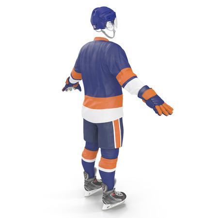 Hockey Gear on white. 3D illustration