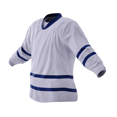 Hockey T-shirt isolated on white. 3D illustration