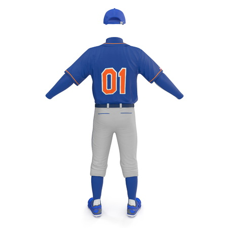 Baseball Clothes on white. 3D illustration Stock Photo
