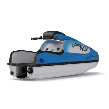 jet boat isolated. 3D illustration Stock fotó