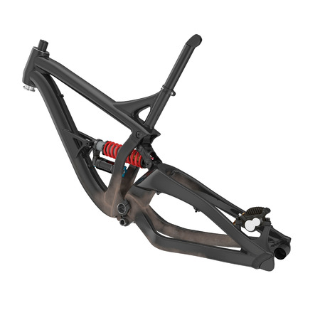 Mountain Bike Frame on white. 3D illustration