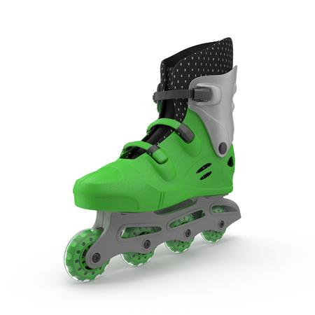One roller skate, isolated on white. 3D illustration