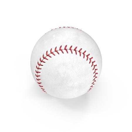 Baseball Ball on white background. 3D illustration Stock Photo