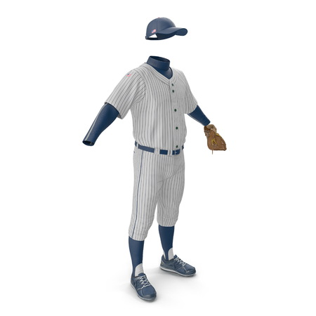 Baseball Clothes on white background. 3D illustration Stock Photo