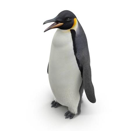 Emperor penguin. isolated on white background. 3D illustration