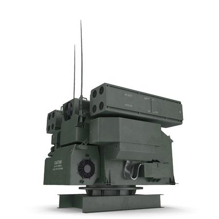 Avenger Air Defense System TWQ-1 on white. 3D illustration