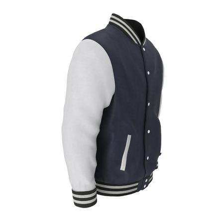 Baseball Jacket on white. 3D illustration