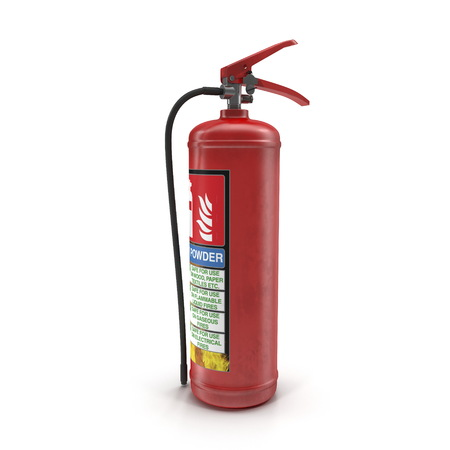 Fire extinguisher isolated on white. 3d illustration Stock Photo