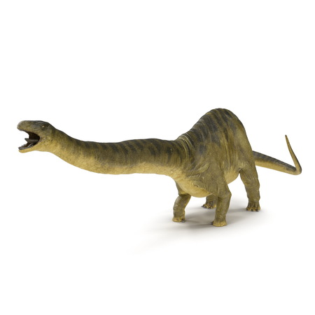 Apatosaurus Dinosaur on white. 3D illustration Stock Illustration - 103682080