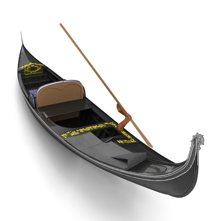 Gondola Boat on white. 3D illustration Фото со стока - 103682141