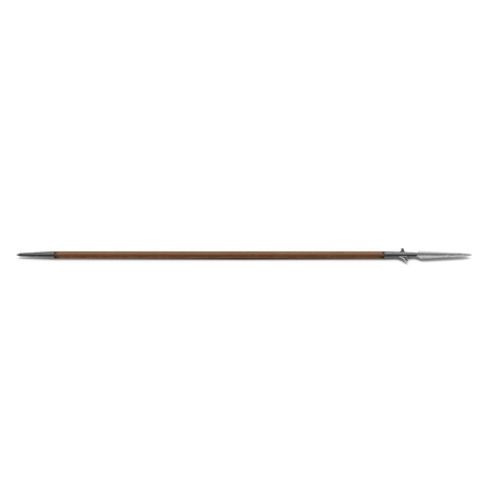 Viking Spear isolated on a white background. 3D illustration Stock Photo