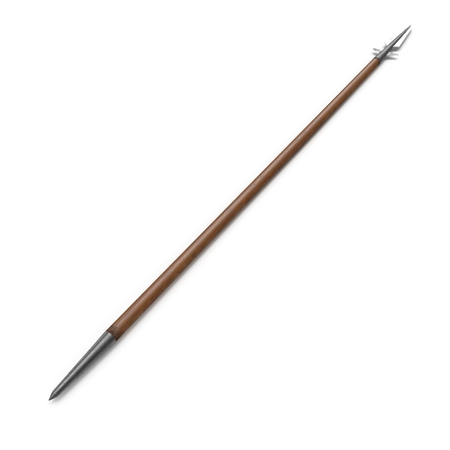 Viking Spear on white. 3D illustration