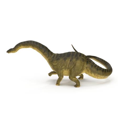 Apatosaurus Dinosaur on white. 3D illustration Stock Illustration - 105488099