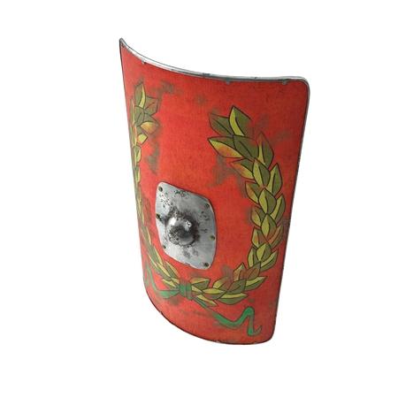 Roman Scutum Shield on white background. 3D illustration