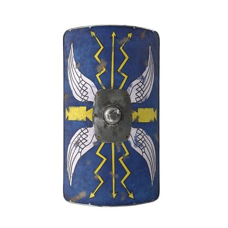 Roman Medieval Shield on white background. 3D illustration