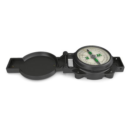 Tourist Compass on white. 3D illustration Stock Illustration - 105650022