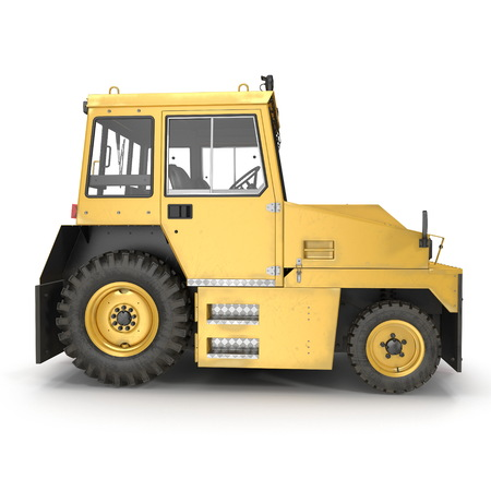 Airport Push Back Tractor Hallam HE50. 3D illustration, isolated on a white background, side view
