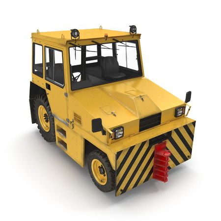 Airport Push Back Tractor Hallam HE50. 3D illustration, isolated on a white background 写真素材