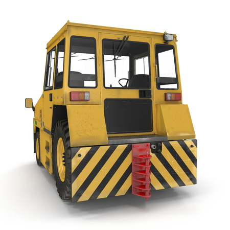 Airport Push Back Tractor. 3D illustration isolated on white background Stock Photo