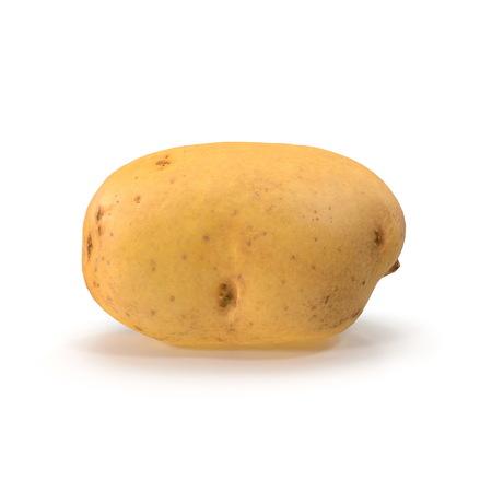 Fresh Potato On White Background. 3D Illustration, isolated Stock Illustration - 110875116