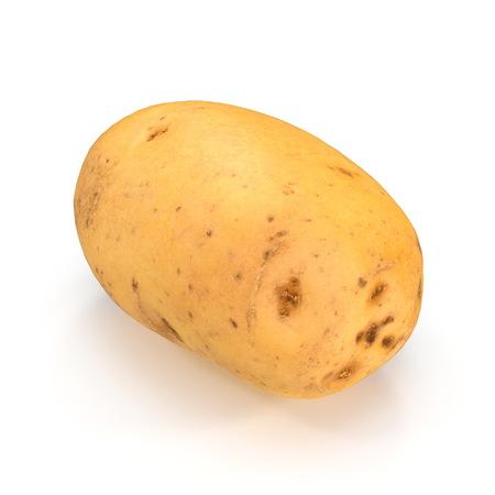 Fresh Potato On White Background. 3D Illustration, isolated Stock Illustration - 110875124