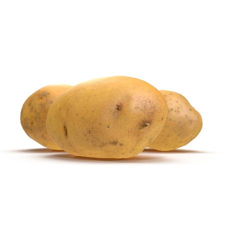Fresh Potato On White Background. 3D Illustration, isolated Stock Illustration - 110875159