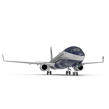 Generic Passenger Plane White Background Illustration Isolated Stock fotó