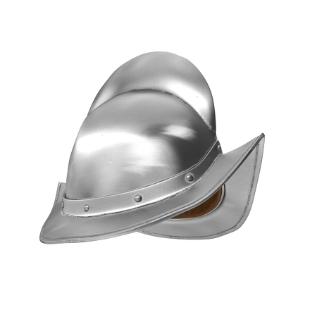 Spanish Comb Morion Helmet Illustration On White Background Isolated